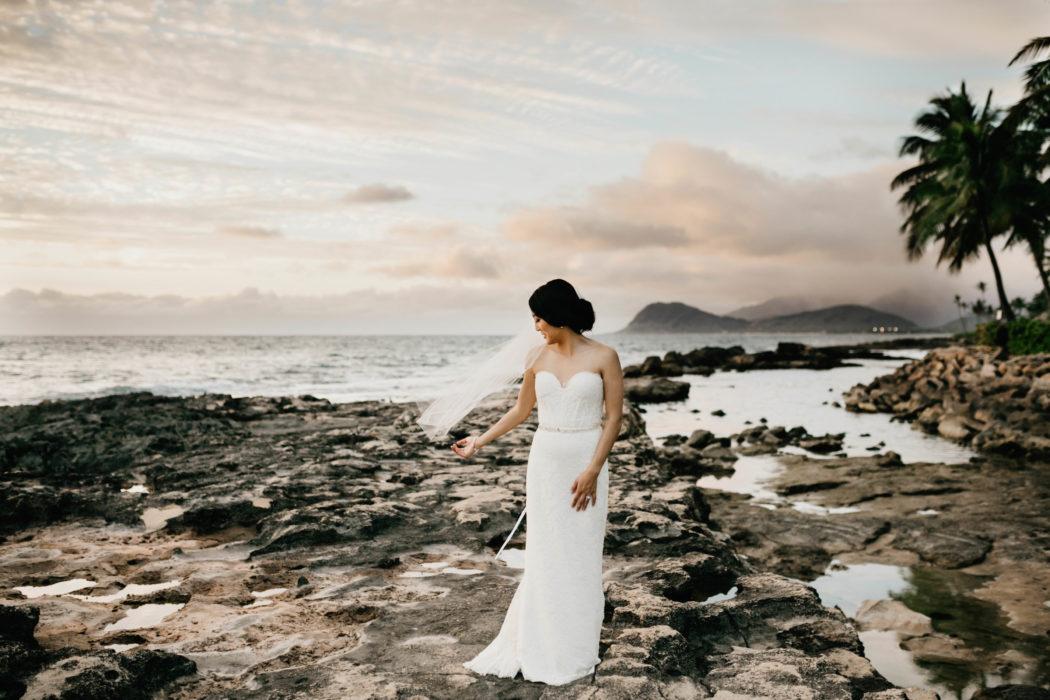 bridal portraits in hawaii