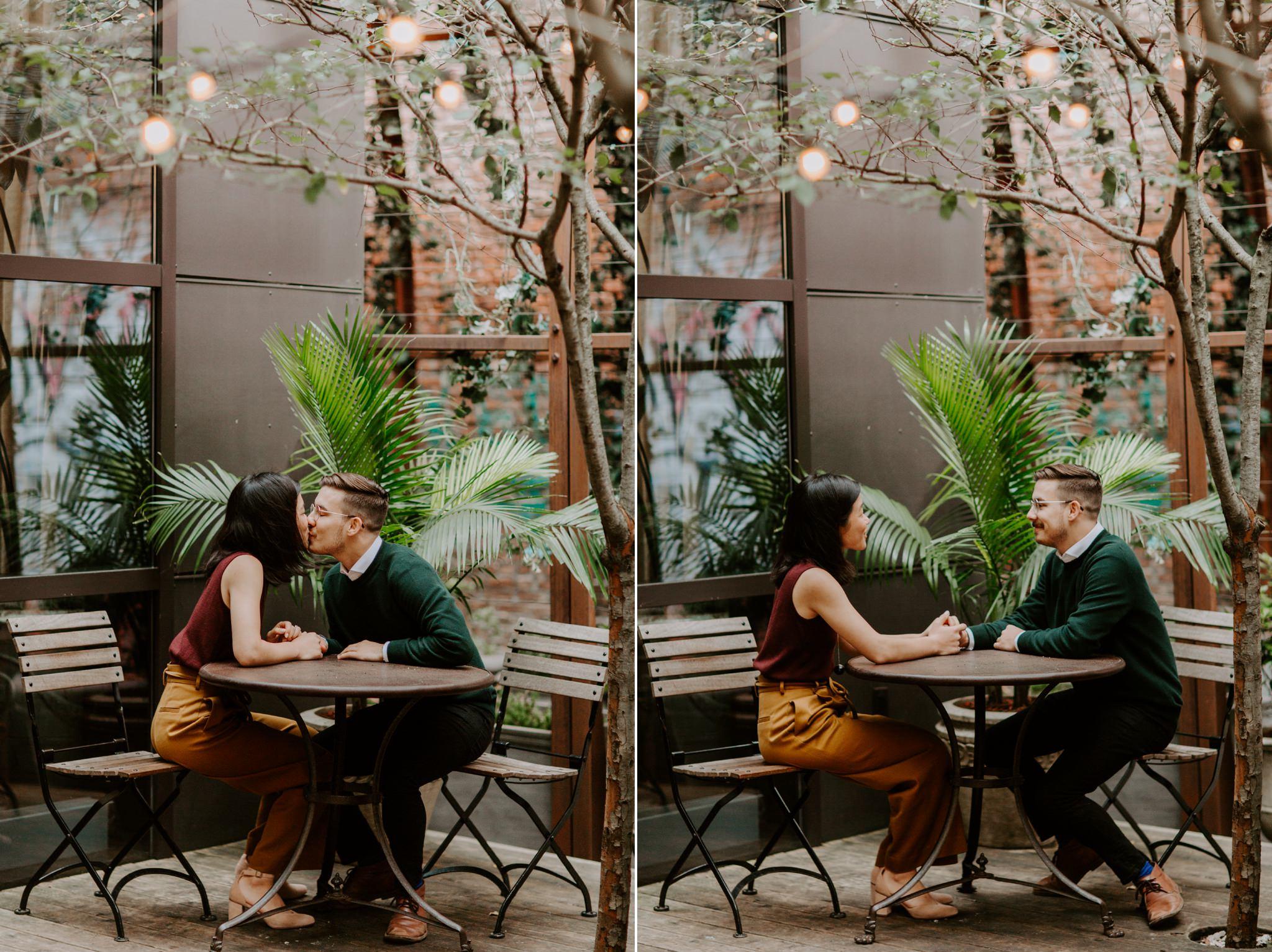NYC engagement photos at the NoHo SoHo hotel