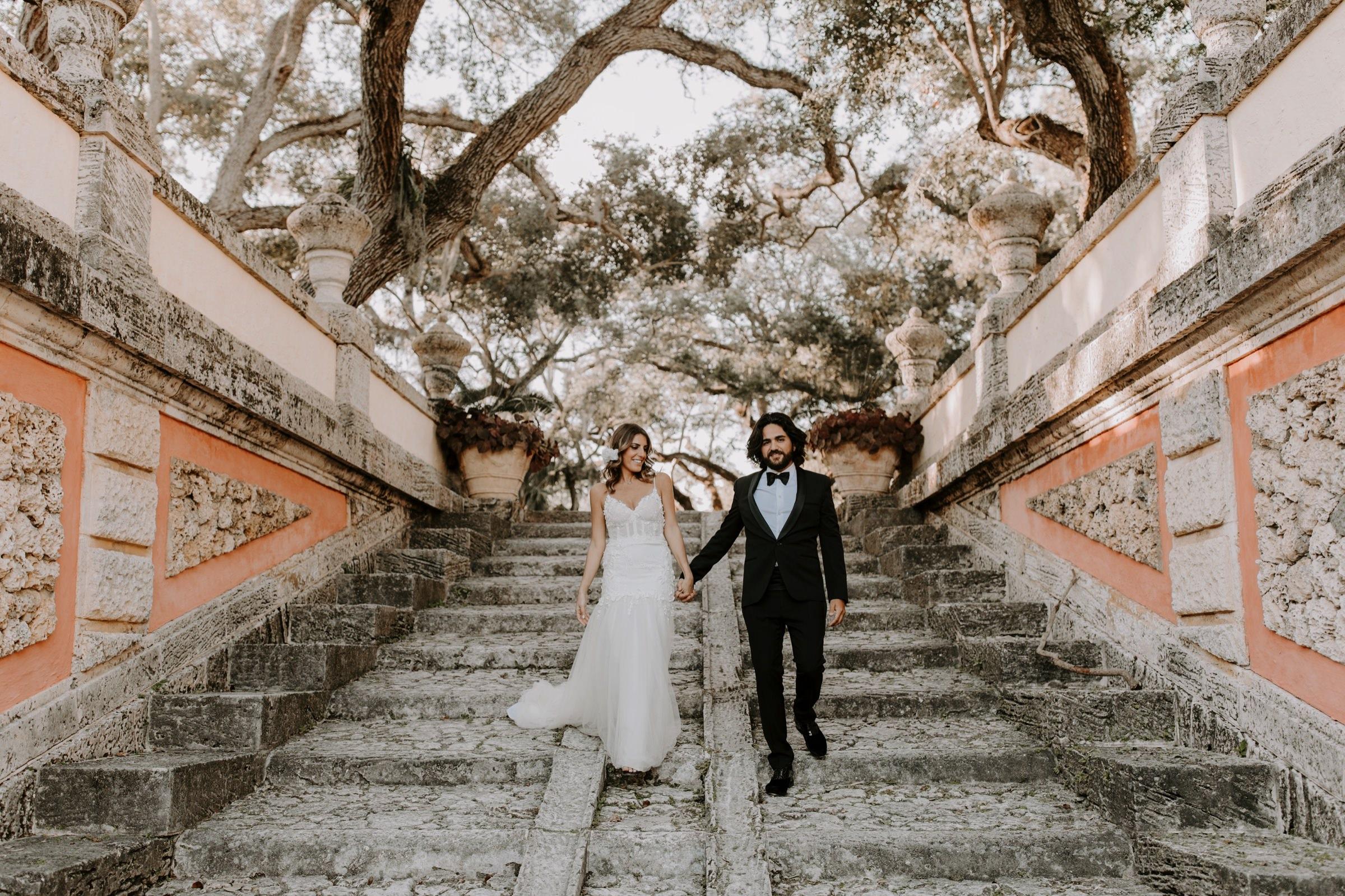 Wedding Portraits at Vizcaya