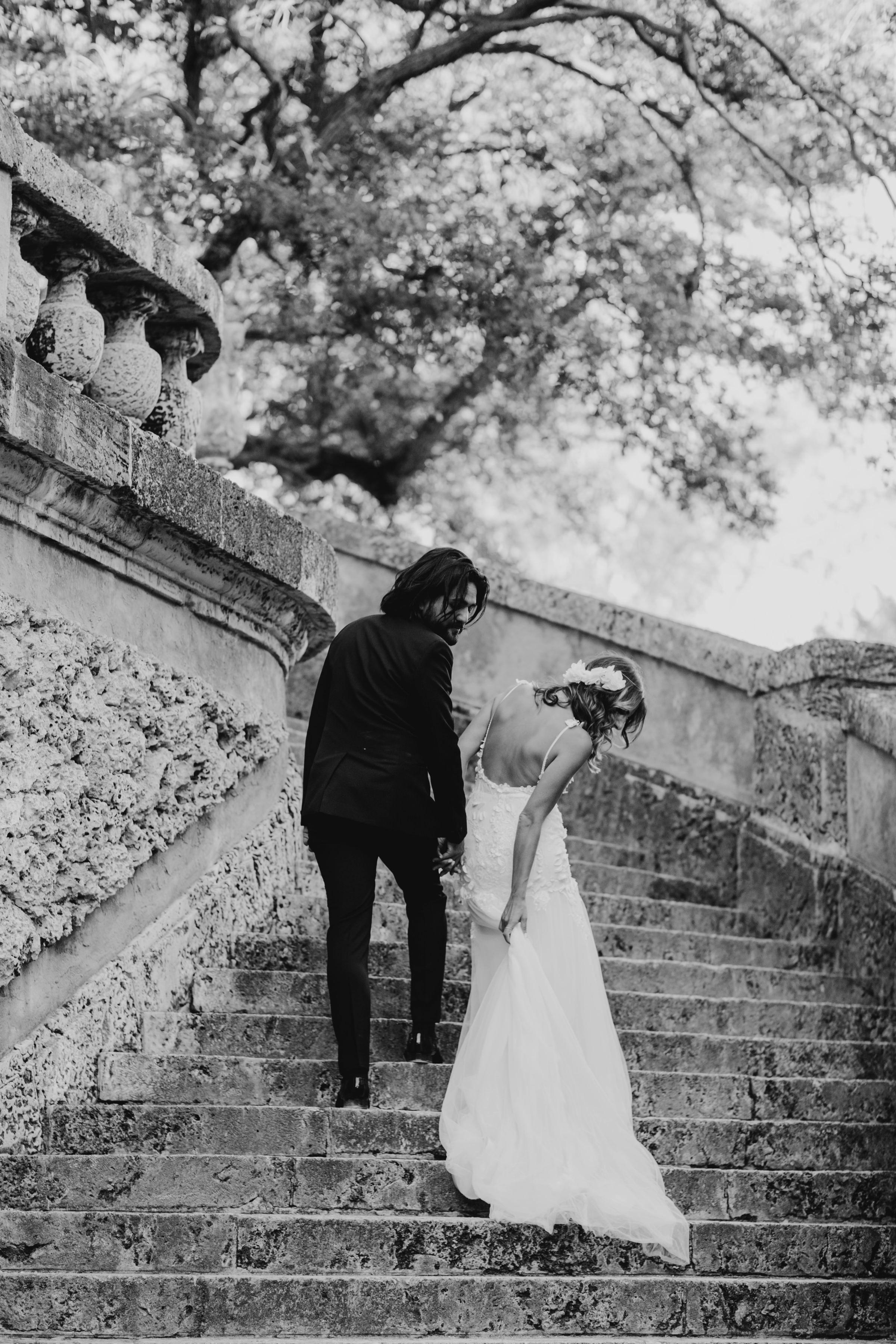 Wedding Portraits at Vizcaya Museum and Gardens