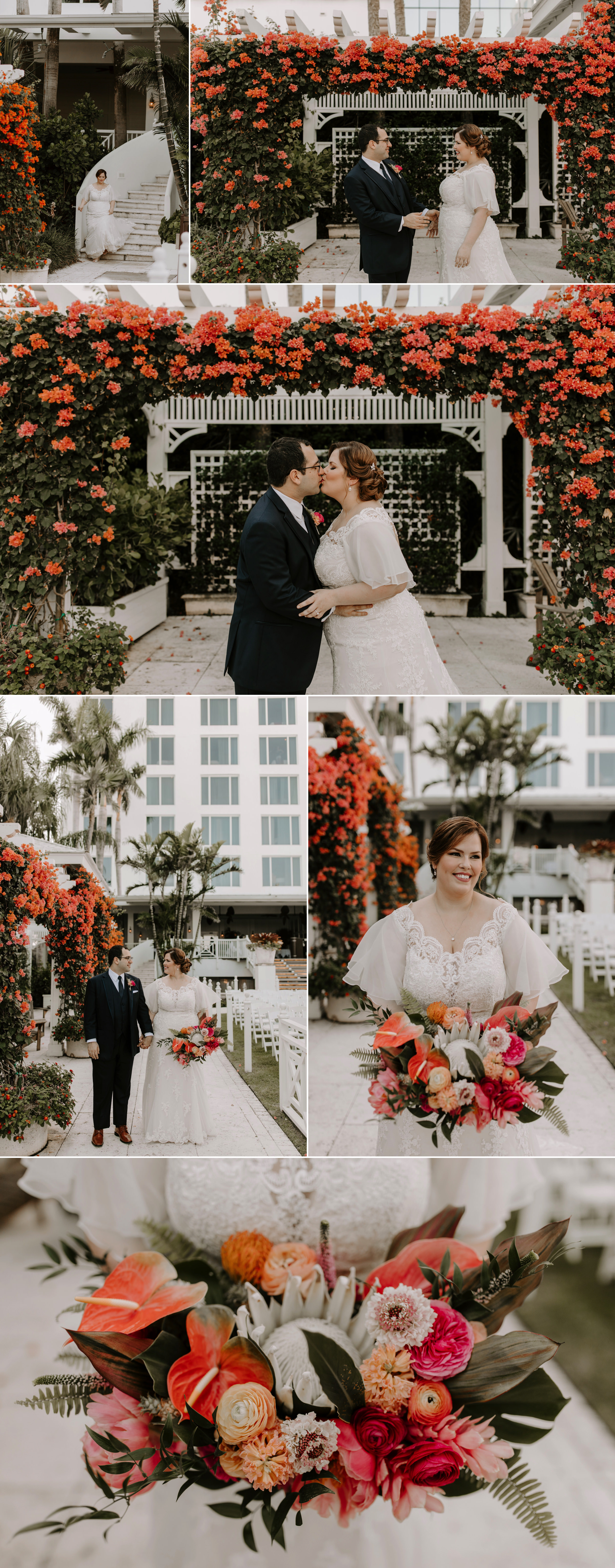 Bride and Groom Portraits at the Palms Hotel in Miami Beach